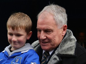 Ex Everton Manager Joe Royle talks to fans prior to the Barclays Premier League match between Everton and Liverpool at Goodison Park on November 23, 201