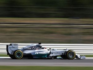 Lewis Hamilton during a practice session for the German GP on July 18, 2014