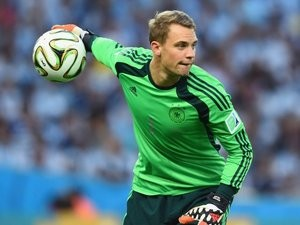 Goalkeeper Manuel Neuer in action for Germany on July 13, 2014.