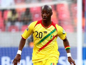 Samba Diakite of Mali during the 2013 African Cup of Nations match between Mali and Ghana at Nelson Mandela Bay Stadium on January 24, 2013