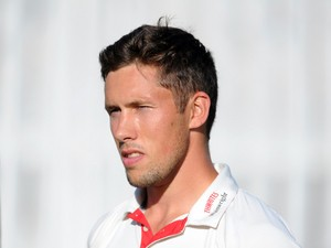 Simon Kerrigan of Lancashire during day one of the LV County Championship Division One match between Lancashire and Nottinghamshire at Liverpool Cricket Club on July 13, 2014