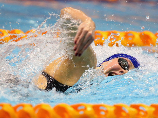 Siobhan-Marie O'Connor in action during the Women's 200m Freestyle Final on day one of the British Gas Swimming Championships 2014 in Glasgow on April 10, 2014