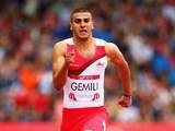 England's Adam Gemili during the men's 100m heats on July 27, 2014