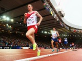 Andy Vernon of England competes in the Men's 5000 metres final at Hampden Park Stadium during day four of the Glasgow 2014 Commonwealth Games on July 27, 2014