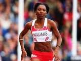 England's Bianca Williams during the women's 100m heats on July 27, 2014