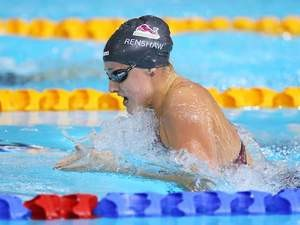 England's Molly Renshaw during the 100m breaststroke heat on July 27, 2014