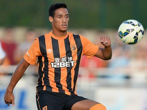 Tom Ince of Hull City during a pre-season friendly match between North Ferriby United and Hull City at the eon visual media stadium on July 19, 2014