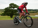 Emma Pooley of Lotto-Belisol Ladies and VC Norwich on her way to winning the Elite Women British National Time Trial Championships on June 26, 2014