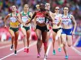 Kenya's Hellen Onsando Obiri sets a new Games record for the women's 1500m on July 28, 2014