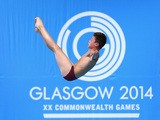 Matthew Dixon of England competes in the men's 10m platform preliminary round at the 2014 Commonwealth Games on August 2, 2014