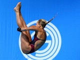 Tonia Couch of England competes in the Women's 10m Platform Preliminaries at Royal Commonwealth Pool during day eight of the Glasgow 2014 Commonwealth Games on July 31, 2014