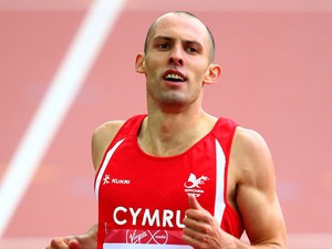 Dai Greene of Wales compete in Men's 400 metres hurdles heats at Hampden Park during day seven of the Glasgow 2014 Commonwealth Games on July 30, 2014