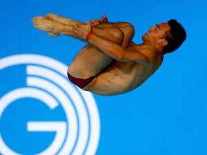 Tom Daley of England competes in the men's 10m preliminary round at the 2014 Commonwealth Games at the Royal Commonwealth Pool in Edinburgh on August 2, 2014