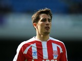 Bojan Krkic of Stoke City in action during the pre season friendly match between Blackburn Rovers and Stoke City at Ewood Park on August 03, 2014