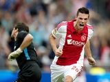 Nick Viergever celebrates scoring for Ajax on August 10, 2014