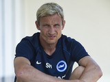 Sami Hyypia, manager of Brighton & Hove Albion, looks on prior to the friendly match against Partick Thistle at Arena Football Center on July 12, 2014