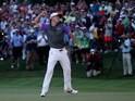 Rory McIlroy celebrates winning the PGA Championship on August 10, 2014