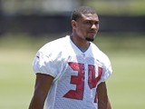 Running Back Charles Sims #34 of the Tampa Bay Buccaneers works out during the first day of rookie minicamp on May 16, 2014