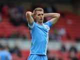 Danny Rose of Barnsley looks dejected during the Sky Bet Championship match between Middlesbrough and Barnsley at the Riverside Stadium on April 26, 2014