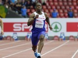 Dwain Chambers in the men's 100m heats in Zurich on August 12, 2014