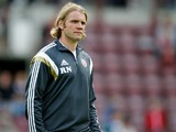 Robbie Neilson, head coach of Heart of Midlothian in during the pre-season friendly at Tynecastle Stadium on July 18, 2014