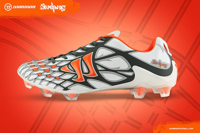 A poster of the Warrior Football Skreamer boots