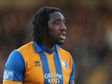 Exodus Geohaghon of Mansfield Town in action during the FA Cup with Budweiser Second Round match at Sincil Bank Stadium on December 1, 2012