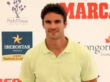 Thom Evans attends the Global Gift Celebrity Golf Tournament to help raise money for The Eva Longoria Foundation and Fundacion SOS at La Quinta Golf & Country Club on August 3, 2013