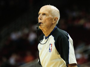 Referee Dick Bavetta #27 watches a play between the Houston Rockets and the Phoenix Suns at Toyota Center on December 4, 2013