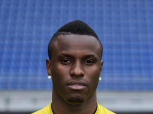 Sochaux Togolese forward Razak Boukari poses on September 19, 2013