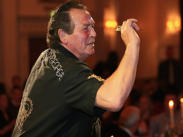 Bobby George, darts player, is pictured during the Pound 4 Pound Charity fundraiser for Fight4change on May 7, 2014