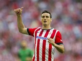 Aritz Aduriz of Athletic Club Bilbao reacts during the La Liga match between Athletic Club and Levante UD at San Mames Stadium on August 30, 2014
