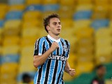 Bressan of Gremio celebrates a scored goal during the match between Fluminense and Gremio for the Brazilian Series A 2013 at Maracana on October 12, 2013