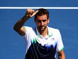 Marin Cilic of Croatia celebrates after defeating Illya Marchenko of Ukraine in their men's singles second round match on Day Five of the 2014 US Open at the USTA Billie Jean King National Tennis Center on August 29, 2014