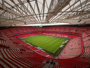 General view of Athletic Club Bilbao San Mames Stadium before the La Liga match between Athletic Club and Levante UD at San Mames Stadium on August 30, 2014