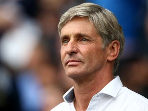 Jose Riga, Manager of Blackpool looks on ahead of the Sky Bet Championship match between Millwall and Blackpool at The Den on August 30, 2014
