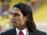Monaco's Colombian forward Radamel Falcao looks on before the French L1 football match Monaco (ASM) vs Lille (LOSC) on August 30, 2014