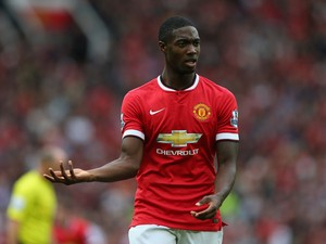 Tyler Blackett of Manchester United in action during the Barclays Premier League match between Manchester United and Swansea City at Old Trafford on August 16, 2014