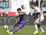 David Pizarro of ACF Fiorentina in action during the Serie A match between ACF Fiorentina and Genoa CFC at Stadio Artemio Franchi on September 14, 2014