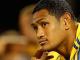 Taulima Tautai of the Eels looks on during the NRL trial match between the Penrith Panthers and the Parramatta Eels at Centrebet Stadium on February 17, 2012