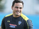 Clermont's New Zealander winger Zac Guildford during a training on August 21, 2014
