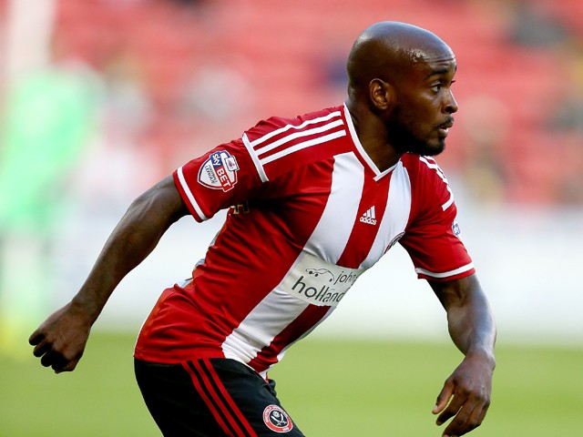 Jamal Campbell-Ryce of Sheffield United in action during the Capital One Cup First Round match between Sheffield United and Mansfield Town at Bramell Lane on August 13, 2014