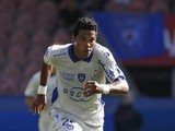 Bastia's Brazillian forward Brandao runs with the ball during the French L1 football match between Paris Saint-Germain (PSG) and Bastia on August 16, 2014