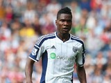 Brown Ideye of West Bromwich Albion in action during the Barclays Premier League match between West Bromwich Albion and Everton at The Hawthorns on September 13, 2014