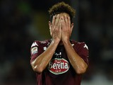 Marcelo Larrondo of Torino FC shows his dejection during the Serie A match between Torino FC and Hellas Verona FC at Stadio Olimpico di Torino on September 21, 2014