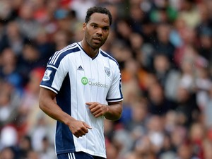 Joleon Lescott of West Bromwich Albion during the pre season friendly match between Nottingham Forest and West Bromwich Albion at the City Ground on August 2, 2014