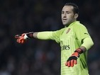 Arsenal's Colombian goalkeeper David Ospina gestures during the English League Cup third round football match between Arsenal and Southampton at The Emirates Stadium in London on September 23, 2014