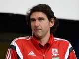 Middlesbrough manager Aitor Karanka during the Capital One Cup First Round match between Oldham Athletic and Middlesbrough at Boundary Park on August 12, 2014