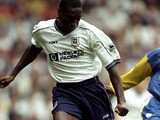Sol Campbell of Tottenham Hotspurs during the FA Carling Premiership match against Leeds at White Hart Lane on September 26, 1998