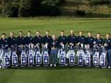 The 2014 European Ryder Cup team and captain Paul McGinley pose for a photo at Gleneagles ahead of the event on September 23, 2014
